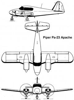 pa23 apache 3v model airplane plan