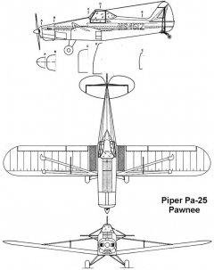 pa25 3v model airplane plan