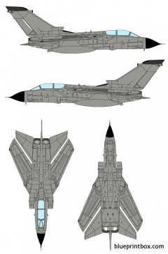 panavia tornado 2 model airplane plan