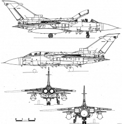 panavia tornado f2 model airplane plan