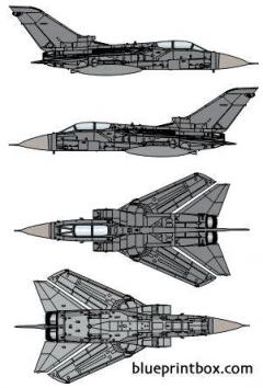 panavia tornado f mk3 model airplane plan