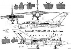 panavia tornado gr1 2 model airplane plan