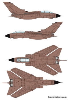 panavia tornado grmk1 model airplane plan