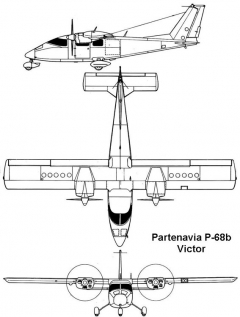 partenavia victor 3v model airplane plan
