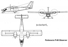 partenaviap68 3v model airplane plan
