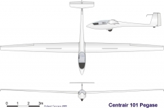 pegase 3v model airplane plan