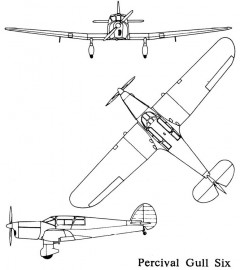 percival gull 3v model airplane plan