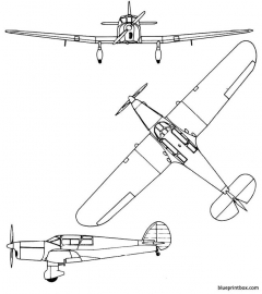 percival gull six model airplane plan