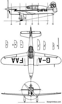 percival mew gull model airplane plan