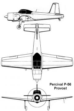 percival p56 3v model airplane plan