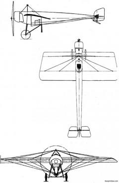 pfalz e i model airplane plan