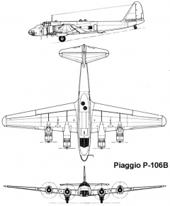piaggio p106b 3v model airplane plan
