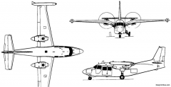 piaggio p166 1957 italy model airplane plan