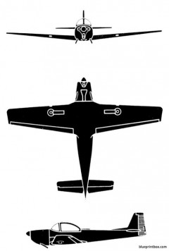 piaggio p 149 model airplane plan