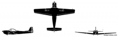 piaggio p 149d model airplane plan