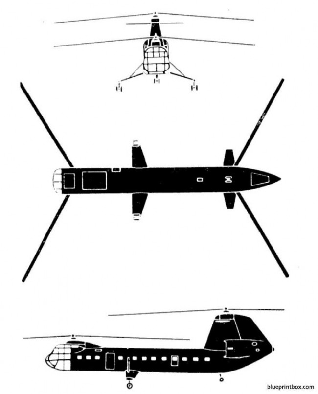 piasecki h 16 transporter model airplane plan