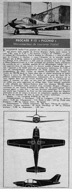 picchio model airplane plan