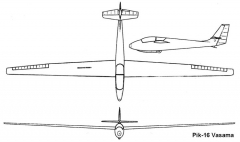 pik16 3v model airplane plan