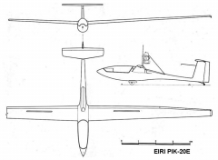 pik20e 3v model airplane plan