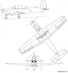 pilatus p3 model airplane plan