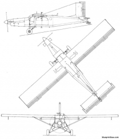 pilatus pc6 model airplane plan