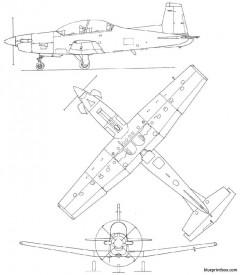 pilatus pc9 model airplane plan