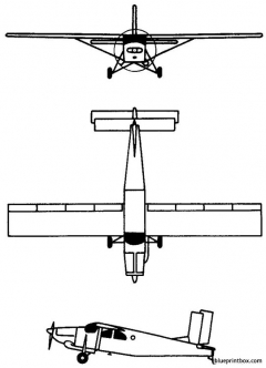 pilatus pc 6 porter turbo porter 1959 switzerland model airplane plan