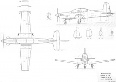 pilatus pc 9 model airplane plan