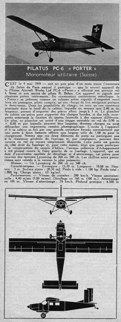 pilatus porter model airplane plan