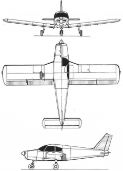 piper cherokee 3v model airplane plan