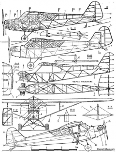 piper l4 cub model airplane plan