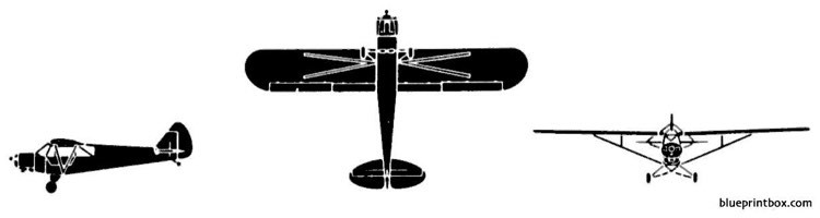 piper l 18 super cub model airplane plan
