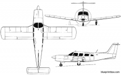 piper lance ll 2 model airplane plan
