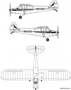 piper pa 18 super cub model airplane plan