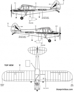 piper pa 18 super cub 1 2 model airplane plan