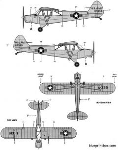 piper pa 18 super cub 2 2 model airplane plan