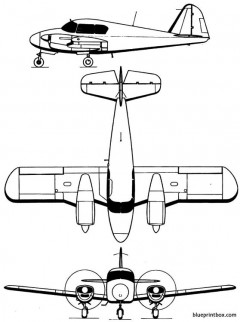 piper pa 23 apache model airplane plan