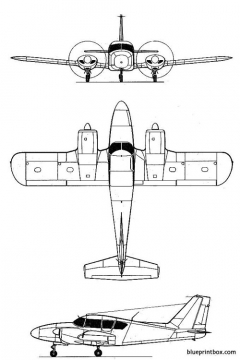 piper pa 23 aztec model airplane plan