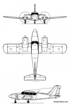 piper pa 23 aztec model airplane plan