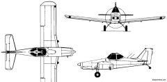 piper pa 25 pawnee 1957 usa model airplane plan