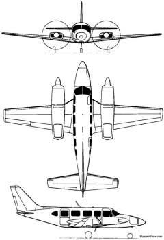 piper pa 31 navajo 1964 usa model airplane plan