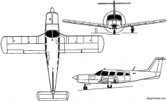piper pa 32 260 6 cherokee six 1963 usa model airplane plan