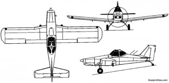 piper pa 36 pawnee brave 1972 usa model airplane plan