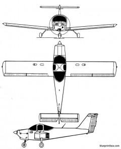 piper pa 38 tomahawk model airplane plan