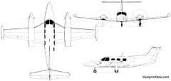 piper pa 42 cheyenne lll 02 model airplane plan