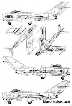 plaaf j 5 model airplane plan