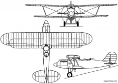 polikarpov di 2 1929 russia model airplane plan