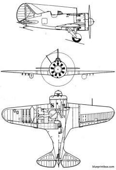 polikarpov i 16 mosca rata model airplane plan