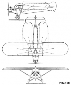 potez36 3v model airplane plan