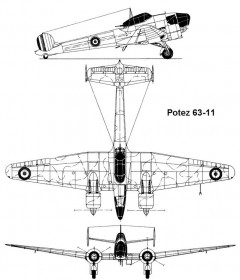 potez6311 1 3v model airplane plan